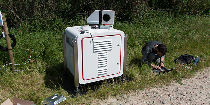 A lidar and a windscanner