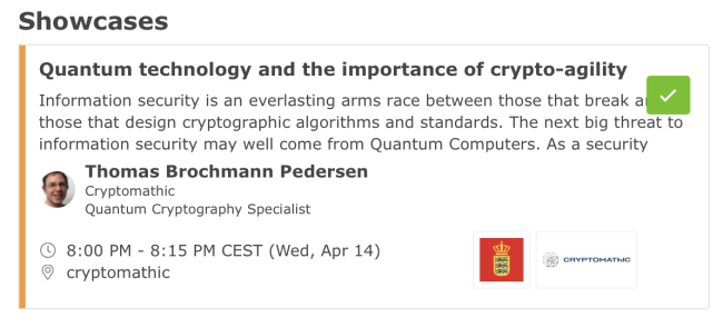 2021-04-13Cryptomathic showcase - Quantum.Tech 2021